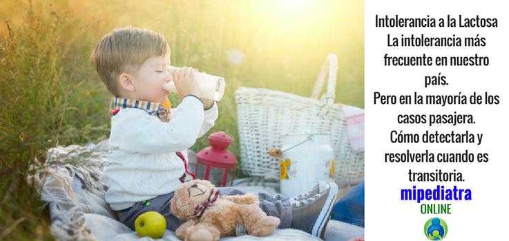 Intolerancia a la lactosa en niños y bebés