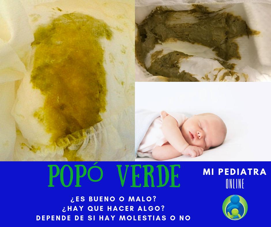 Caca o Popó Verde en Bebés, ¿Hay que hacer algo?