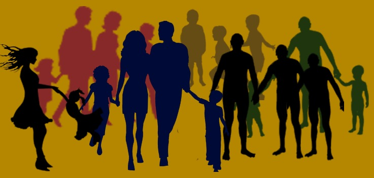 Familia y amigos en crianza