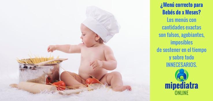 Menú para Bebés de X meses.