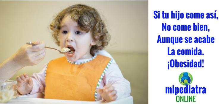 Comedores pasivos y Obesidad infantil. Comer entretenido con los dibujos