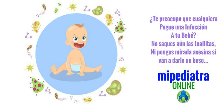 Gérmenes y bebés. Microbios, infecciones y miedo al contagio