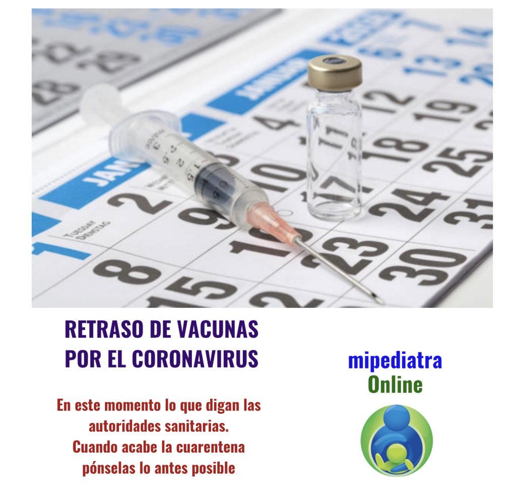 Retrasos de la vacunación del calendario por la cuarentena de la epidemia del coronavirus Covid-19